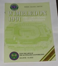 THE LAWN TENNIS CHAMPIONSHIPS WIMBLEDON 1991 OFFICIAL PROGRAMME DAY 1 24TH JUNE