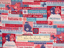 Care Bears Fabric - Friend Dream Believe Butterfly Pink Purple VIP OOP - YARD