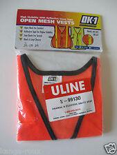 Safety Vest reflective Orange mesh U-line 5-99130 ventilated S-Xl stretch Nice