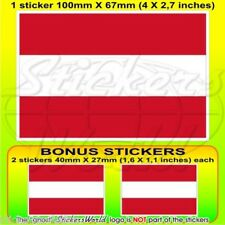 Autriche Drapeau Autrichien Autriche Vinyle Autocollant Sticker 100 mm x1+2 BONUS