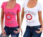 T-Shirt Donna Maglietta SEXY WOMAN A336 Maniche Corte Tg S M