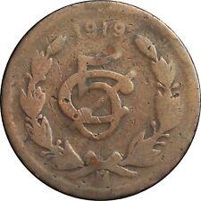 Mexico 5 Centavos Mo 1919, Bronze. KM# 422. Scarce.