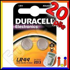 20 PILE DURACELL LR44 BATTERIE A76 LR 44 V13GA 1,5v