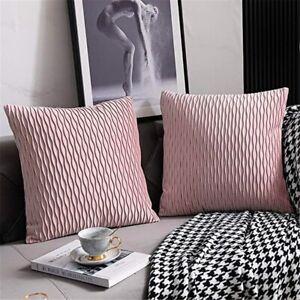 2 X Sofa Cushion Covers Velvet Throw Pillow Case Cover Soft Home Bed Decor Warm