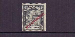 MALTA 1922 10/- SELF-GOVERNMENT SG122 MNH CAT £140