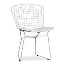 Replica Harry Bertoia Wire Side Chair - White Solid Dining Chair