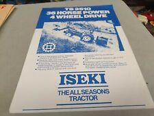 1980s ? ISEKI TS3510 4WD Tractors New Zealand  Sales Leaflet