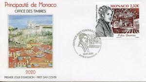 Monaco Music Stamps 2020 FDC Fides Devries Opera Singers Famous People 1v Set
