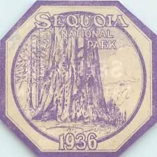 SEQUOIA NATIONAL PARK - Scarce & Original Luggage Label, 1936
