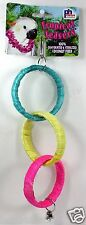 PET BIRD TROPICAL TEASERS COCONUT HOOP TOY FUN ACTIVITY FOR CAGE MEDIUM - LARGE