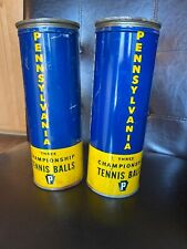 Vintage Pennsylvania Rubber Co. 3 Championship Tennis Balls In Tins x2