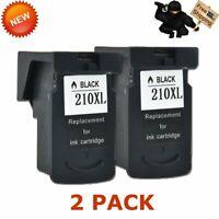 2 Reman PG210XL PG-210 Black Ink Cartridge For Canon PG-210XL PIXMA MX360 MX350