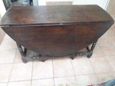 """Ovaler Eichentisch für 8 Personen, England circa 1790, """"Gate Leg Table"""""""