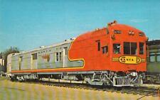 Santa Fe M160 Gas-Electric Engine Railroad Postcard
