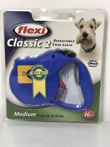 Flexi Classic 2 Retractable Cord Leash Medium Dogs 44lbs / 16ft - New