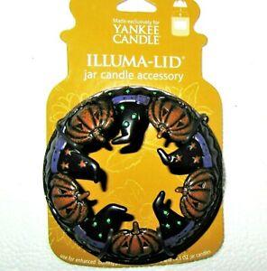 "Yankee Candle 2007 Retired HALLOWEEN ""WITCH HATS~PUMPKINS"" ILLUMA LID~22 oz~RARE"