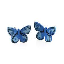 Blue Butterfly Titanium Stud Earrings