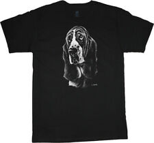 Basset Hound Face Portrait T-shirt Dog Breed Tee Men's Clothing Dog Person Gifts