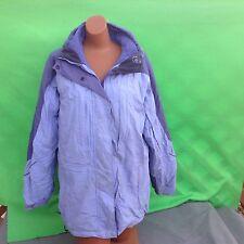 COLUMBIA core women's fashion 3 in1 blue long sleeve coat jacket size--M