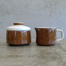 Vintage Mikasa Mediterrania Expresso Brown 4997 Milk Jug and Sugar Bowl Japan