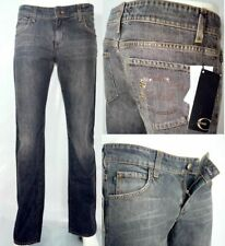 Jeans Donna Just Cavalli W29 43 L34 nero stone washed straight  RRP € 240
