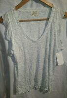 PST Los Angelas Women's Gray Short Sleeve Shirt Size XL New with Tags