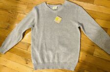 NWT Boys Cotton Gray Pullover Sweater Long Sleeve Size 7/8 V neck