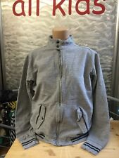 Best Mountain Sweat Shirt Jacke College Stil Grau Blau Gr XS Viskose Cotton 1A