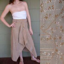 Siri de Mantree Italy Couture Silk Brocade Skirt Avant Garde Origami Pleat S M