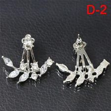 1 Pair Fashion Women Lady Elegant Crystal Rhinestone Ear Stud Earrings Charms LJ