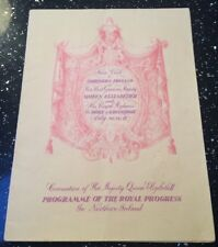 Northern Ireland State Visit Queen Elizabeth II July 1953 Official Programme