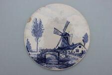 Runde Keramik Fliese mit Holland Dekor - H.& R. Johnson