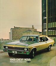 1969 Chevrolet NOVA Brochure / Catalog: SS-350, SUPER SPORT, SS350 Coupe....NOS!