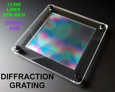 3x3 INCH Diffraction Grating Sheet With Display Case 13,500 Lines SPECTROMETER