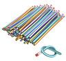 40 x Soft Flexible Bendy Pencils Smile Erasers Magic Bend Kids Children School