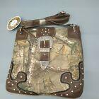 REALTREE ® Camo Cross Body Bag brown studded snap zip