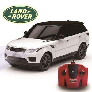 White Land Rover Range Rover Sport Replica 1:24 Scale Remote Control Car Xmas