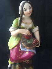 Paire de personnages plumiers porcelaine de Paris XIXème Charles X 1830-1850