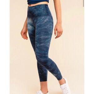 BEYOND YOGA Barre3 Blue Tie Dye High Rise Leggings sz.L Excellent!!!