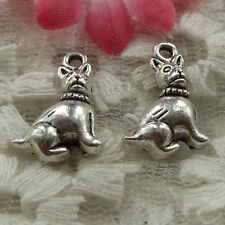 free ship 270 pieces Antique silver dog charms 18x12mm #4104