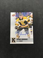 2019-20 UPPER DECK CHL SHANE WRIGHT RARE STAR ROOKIE AUTOGRAPH AUTO #400