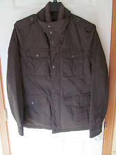NWT Men's Levi's Dark Olive Quilted lining style heavy zip/button up Coat Size M