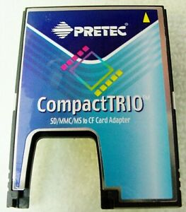 PRETEC Compact TRIO SD MMC MS To CF Compact Flash Card Adapter w/ Case | $25 |