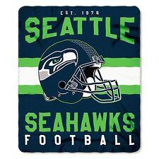 "NFL Seattle Seahawks Singular Design Large Soft Fleece Throw Blanket 50"" X 60"""