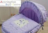Lollipop Lane Clippity Clop Moses Basket Bedding Set Cover, Hood & Quilt Purple