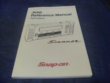 New Snap on Jeep Reference Manual Scanner 5th Edition 2001 ZMT2500-1000-04