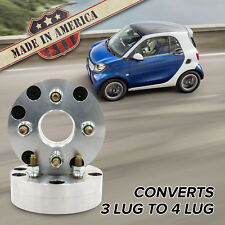 "3x112 - 4x100 (3 Lug Smart to 4 Lug Wheel) | Adapters / 1.75"" Spacers | x2 USA"