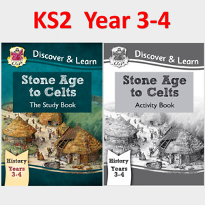 KS2 History Stone Age to Celts Study and Activity Books Ages 7-9 CGP