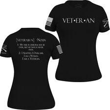 Grunt Estilo para Mujer de mujer veterano Camiseta-Negro