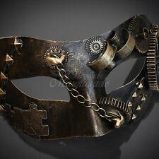 Steampunk Costume Theater Masquerade Mask for Men - Metallic Gold